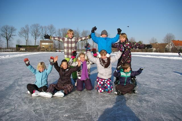 School op de schaats